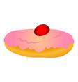 hanukkah sweet cake icon cartoon style vector image vector image