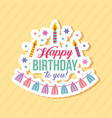 happy birthday kawaii background vector image
