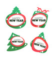 happy new year and merry chrismas banner symbol vector image vector image