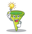 have an idea funnel character cartoon style vector image vector image