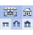 icon set - houses vector image vector image