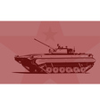 Infantry fighting vehicle vector image