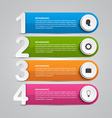 Infographics design template for presentations or vector image vector image