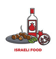 israeli food and granet wine travel agency promo vector image vector image
