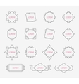Line design elements Set geometric labels signs vector image