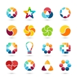 logo set Circle signs and symbols Design vector image
