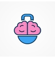 Logo with a combination of brain and weight vector image vector image