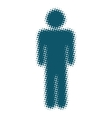 male icon blue blurred silhouette of a man vector image