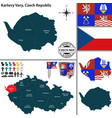 map of karlovy vary czech republic vector image vector image