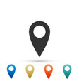 map pin icon pointer symbol location sign vector image vector image
