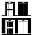 modern elevator black symbols vector image vector image