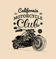 motorcycle advertising poster sketched vector image vector image