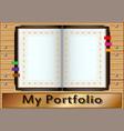 my portfolio vector image
