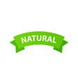 natural organic vegan emblem fresh nutrition tag vector image vector image