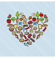 nutritive food design vector image
