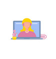 online consultant woman vector image vector image