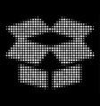 open box halftone icon vector image