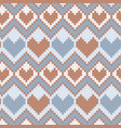 pixel hearts seamless pattern vector image vector image