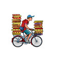 Pizza delivery bicycle