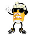 popcorn for movie theater and cinema vector image vector image