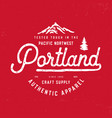 portland t shirt design vector image