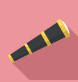 sailor spyglass icon flat style vector image vector image
