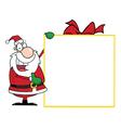 Santa With Big Gift Banner vector image vector image