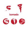 set icon tornado vector image