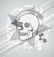 skull composition vector image vector image