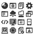 software and hardware programing icons set vector image