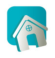 Square button and simple facade house icon design