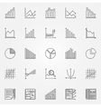 Statistics icons set vector image vector image
