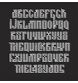 The latin stylization of Old slavic font vector image vector image
