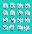 tissue paper emoji set vector image vector image