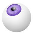 up vision eyeball mockup realistic style vector image vector image