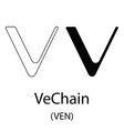 vechain black silhouette vector image vector image