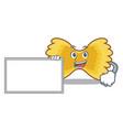 with board farfalle pasta character cartoon vector image vector image