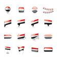 yemeni flag on a white vector image