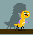 angry yellow monster with shadow vector image