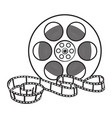 classical motion picture cinema film reel sketch vector image