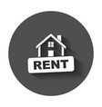 house for rent flat with long shadow vector image