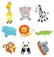 Collection of Safari Animals vector image