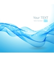 Abstract background with blue wave vector image vector image