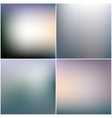 Abstract editable blurred backgrounds set vector image
