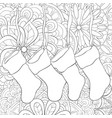 adult coloring bookpage a set of christmas vector image
