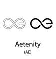 aetenity black silhouette vector image vector image