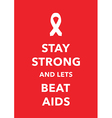 aids poster vector image vector image