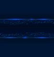 banner from blue glowing neon circuit board lines vector image vector image