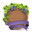 barrel grape purple ribbon vector image vector image