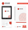 basket ball business logo tab app diary pvc vector image vector image